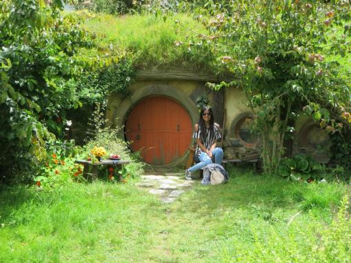 Just chilling outside a hobbit hole