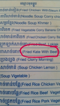 Pic by: Div Kate is apparently a tasty dish in Cambodia.